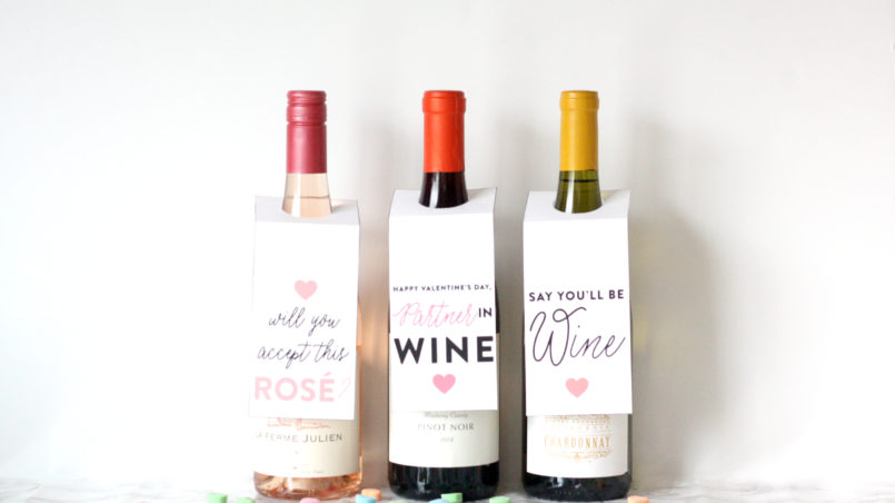 printable galentine gift wine tags bgd blog