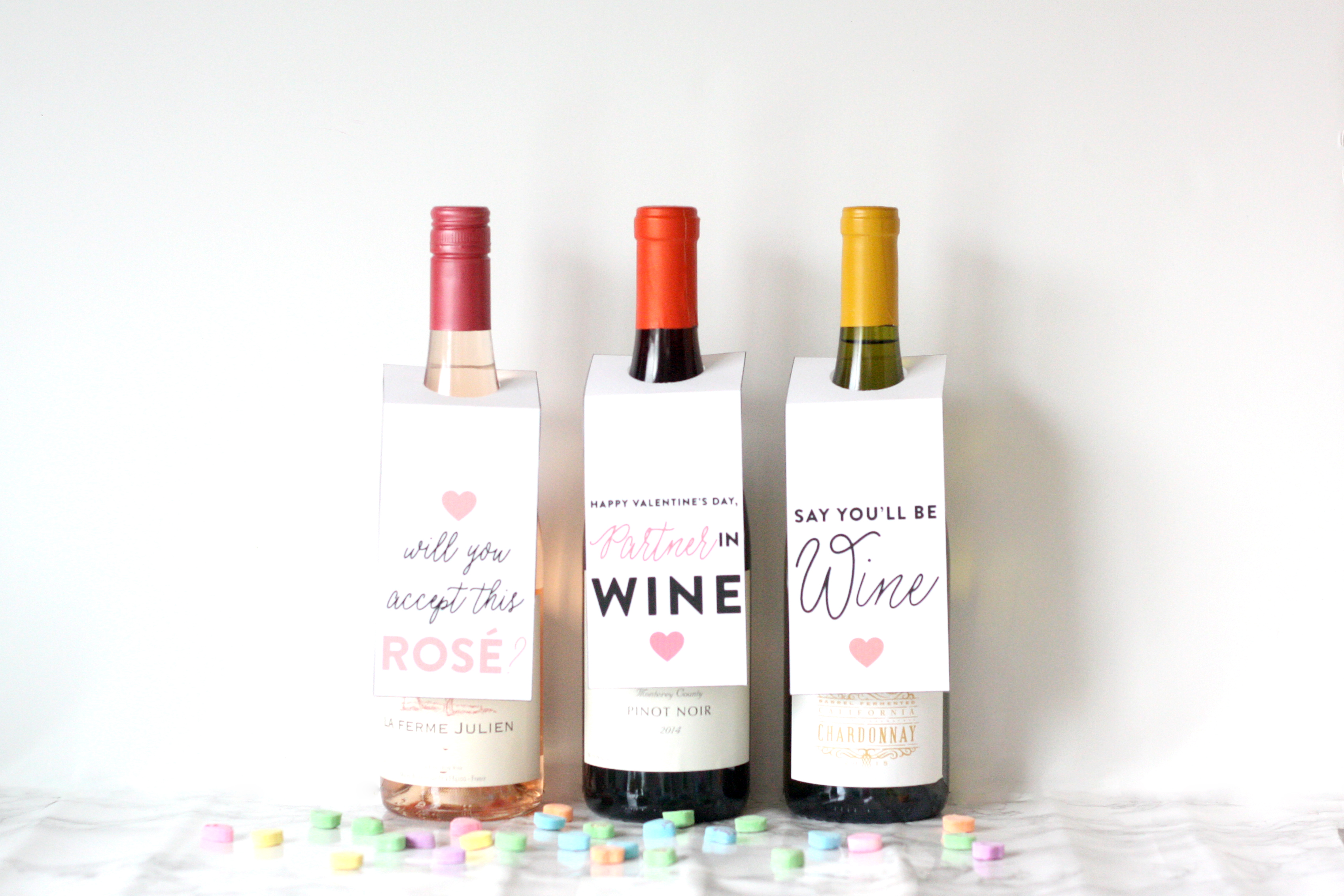 pun wine tags free printable