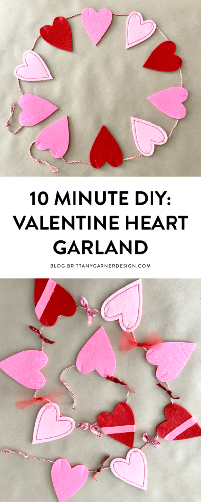 10 minute DIY for Valentine's Day