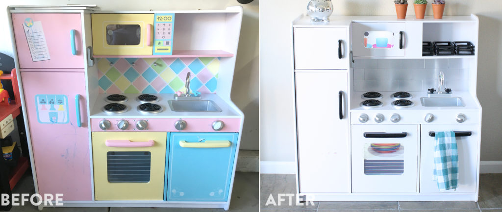 Before+After Play Kitchen Remodel For Kids