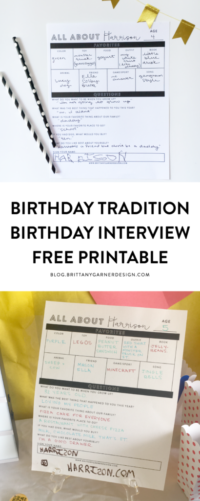 Birthday Worksheet Free Printable