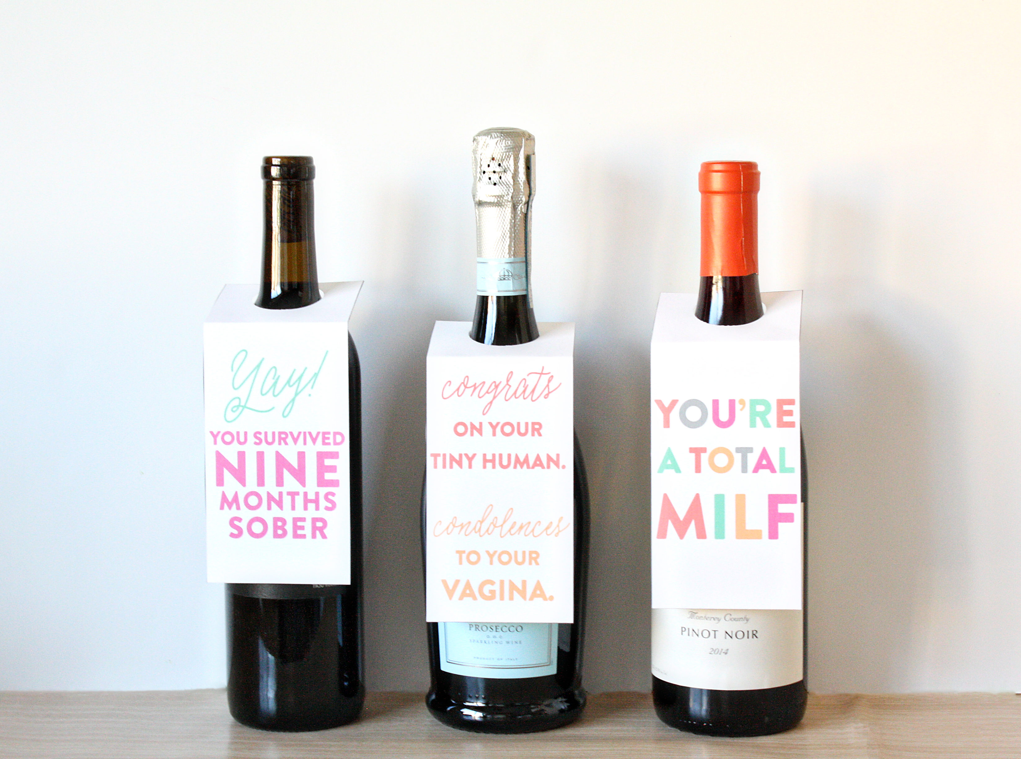 New Mom Wine Tag Printable